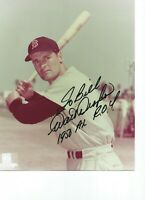 Walt Dropo Boston Red Sox Autographed  8X10 PHOTO - 1950 A/L Rookie of the Year