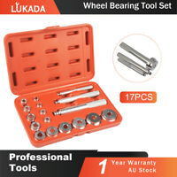 17pcs Aluminum Wheel Bearing Race Seal Bush Driver Set Garage Tool Kit