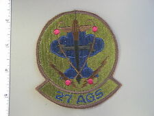 Large Early USAF issue 27th Aircraft Generation Sq. patch brand new never issued