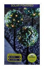 Esterno giardino 3x 27 LED ENERGIA SOLARE ILLUMINAZ. SFERA TOPIARIA SFERA posta in gioco luci