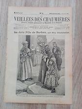 Journal illustré 1909  - Veillées des Chaumières - 17 Juillet - La Jolie Fille..