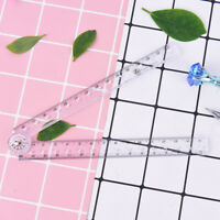 clear plastic acrylic folding straight rulers 30cm drawing kid school supplie ep