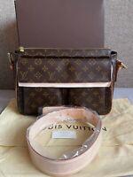 Authentic Louis Vuitton Viva Cite GM Shoulder Bag Monogram M51163