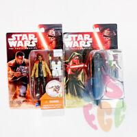 Star Wars Force Awakens 3.75 Inch Action Figure Lot of 2 Kylo Ren Finn Jakku