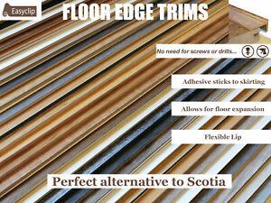 Floor Edge Trim 1 Meter Lengths Various Colours Allows For Floor Expansion