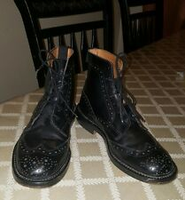 Trickers of England For Burberry Stow Country Boots Leather Men Size UK 8.5 US 9
