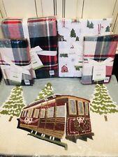 Pottery Barn Declan Plaid Queen Duvet Shams Ski Lodge Sheet Set Pillow Christmas
