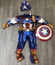 Childrens Marvel Captain America Dress Up Costume Age 5-6