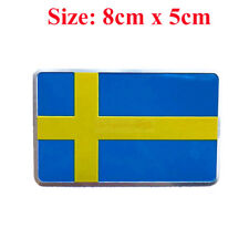 SWEDEN SE Sverige Badge Metal Side Rear Emblem Decals Sticker Car For Volvo