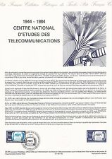 Document Philatélique Timbre 1er Jour : 16/06/ 1984 -Télécomunications Etudes