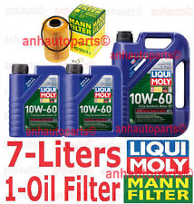 7-Liters Liqui Moly Race Tech 10W-60 Synthetic Motor Oil & 1-Mann Oil Filter