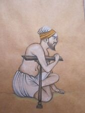 Old look miniature paper painting of A SUFI OR A SAADHU MUGHAL STYLE