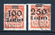 Danzig Scott # 138 and 139 2 Postal Used Overprints 1923 Catalog Value $276! |