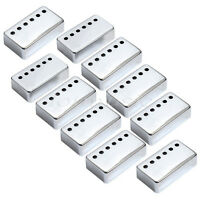 10 Pcs Chrome Humbucker Pickup Covers for Guitar Parts Replacement 50mm Pole