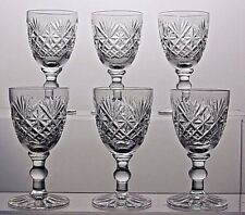 "WEBB CORBETT CRYSTAL ""WARWICK""  PATTERN LIQUEUR GLASSES SET OF 6"