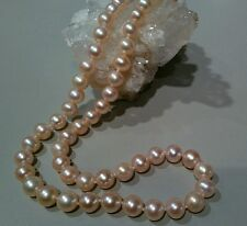 PINK PEARL NECKLACE - 7.5 - 8.0 MM - 19-INCH STRAND - w/EARRINGS - NWT- $595.00