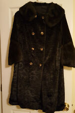 Vintage Beautiful  Lined Curly Lamb Women's Coat