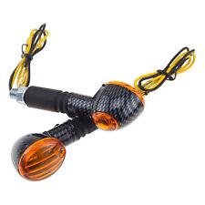 Reflex Amber Carbon Universal Light Motorcycle Stem Stalk Turn Signal Marker