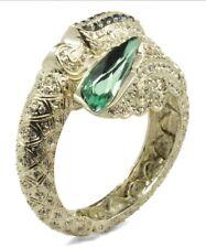 Green Crystal & Goldtone Dragon Cuff Bracelet Novadab