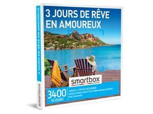 Coffret Smartbox  3 jours de rêve en amoureux neuf