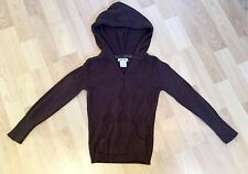 Cherokee Argyle Hooded Brown Pullover Sweater With Pockets Girls Size 4-5
