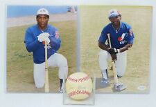 Tim Raines Expos Hand Signed Photos & Baseball Autograph Lot of 3 Items