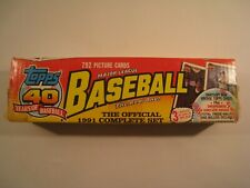 TOPPS 1991 Major League Baseball Complete 792 Card Set (Mint In Box) 40 Years