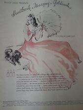 1939 Peggy Sage Heartbreak Fingernail Nail Polish Worn Claire Luce Original Ad