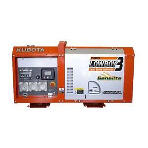 Used Kubota Lowboy 2 Generator GL9000 Diesel 8 KVA 240 Volt Power