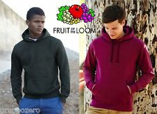 5 PEZZI STOCK Felpa FRUIT OF THE LOOM cappuccio gr 280 HOODED sweat NO ZIP
