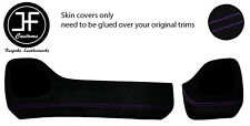 PURPLE STITCH TWO PIECE DASH KIT TRIM SUEDE COVERS FOR TOYOTA AYGO 2014-2019