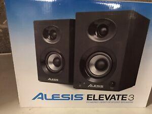 Boxed ALESIS Elevate 3 Powered Desktop Studio Stereo Monitors Speakers