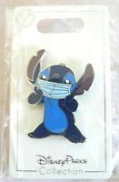 "Disney FANTASY Pin Blue Stitch Face Mask FAN MADE PIN 1.75 """