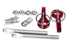 ADD ON Aluminum Red Hood Pin lock For Fiberglass OEM Steel Carbon Fiber Hood