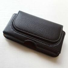 For iphone 5 5s 5c SE Black Horizontal belt clip on leather case Bag holster