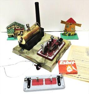 Alte Fleischmann Dampfmaschine 125/2 & Modelle - im Original Karton - um 1950
