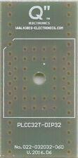 """PLCC32T tot DIP32 0.6"""" socket. [NL]"""