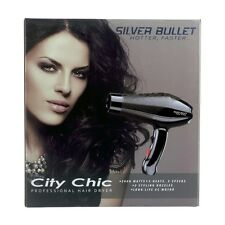 Silver Bullet City Chic Hair Dryer Black Hairdryer Silverbullet