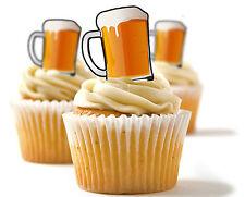 ✿ 24 Edible carta di riso cupcake decorazioni,TORTA DECORAZIONI - Boccale birra