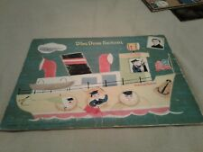 Vtg Whitman 1953 Tray Puzzle Ding Dong School Tugboat