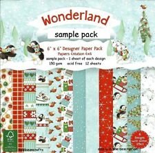 DOVECRAFT CHRISTMAS WONDERLAND 6 X 6 SAMPLE PACK - 1 OF EACH DESIGN 12 SHEETS