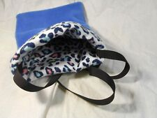 Reversible Bonding Pouch Blue Leopard (medium)