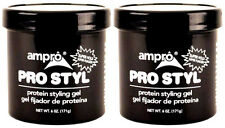 AMPRO PRO STYL Protein Styling Hair Gel Super Hold Alcohol Free Non Greasy 2 Pk