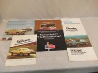1977 Car Sales Brochures Volkswagen Chrysler Plymouth Dodge Vintage Automotive