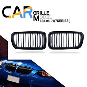 For BMW 7-Series E38 Saloon Black Gloss Kidney Sport Front Grill  1998-2001