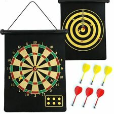 ALIG BRAND DOUBLE SIDE MAGNET DART BOARD GAME SIZE 17 INCHES WITH 6 FREE DARTS.