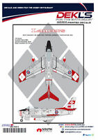 Decals Canadair Sabre - RCAF Lancers Aerobatic Team 1/72 Scale