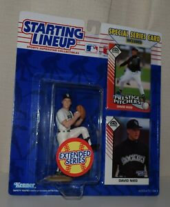 1993 STARTING LINEUP 68223 -DAVID NIED*COLORADO ROCKIES- MLB SLU EXT 2 CARDS