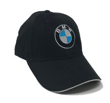 BMW Logo Embroidered 6 Panel, Brushed Cotton Baseball Cap