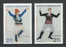 Turkey 2019 Folk Dances 2 MNH stamps